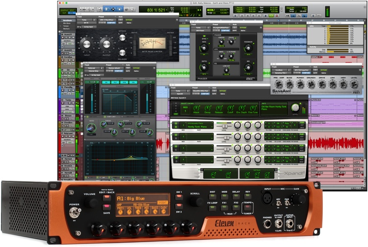 avid eleven rack usb audio interface with pro tools academic licence. Black Bedroom Furniture Sets. Home Design Ideas