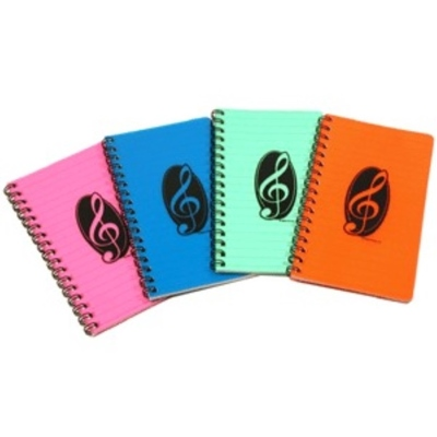 Treble Clef Notebooks in assorted colours