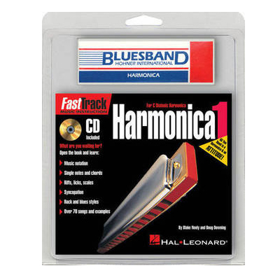 Fast Track Mini Book and CD Harmonica Pack
