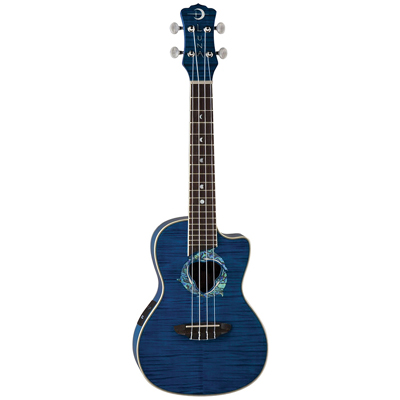 Luna dolphin Ukulele - Blue Flamed Maple