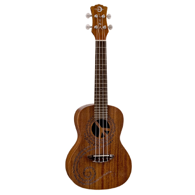 Luna Ukulele with 'Peace' Soundhole Decoration