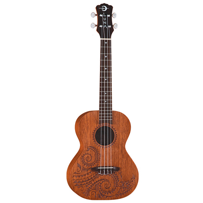 Luna Ukulele with Tribal Pattern