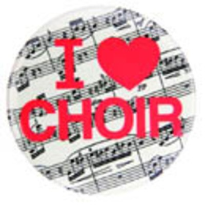 Metal Magnet I Love Choir MM353