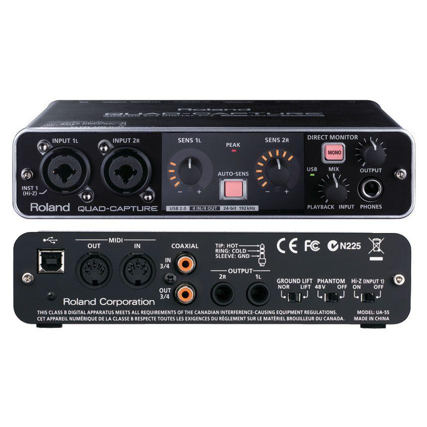 roland quad capture ua 55 usb audio interface