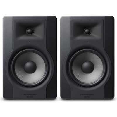 M-Audio BX8 powered studio monitor speakers