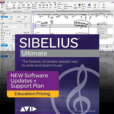 Sibelius Ultimate Education New Update + Support Plan