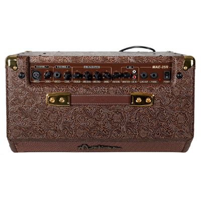 Martinez 25 Watt Acoustic Amp with Reverb Top View