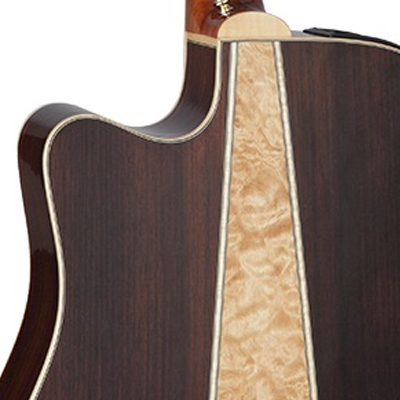 Takamine G90 Series Dreadnought Acoustic Guitar Back Detail