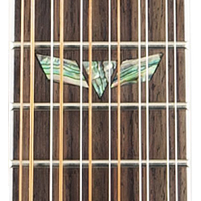 Takamine G70 Jumbo Electric Acoustic Guitar twelfth fret inlay detail