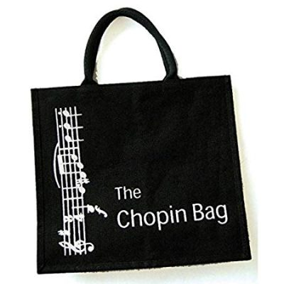 Chopin Bag - black cloth totebag