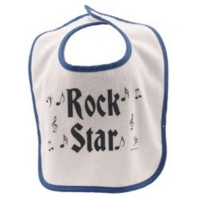Baby Bib - Rock Star Blue