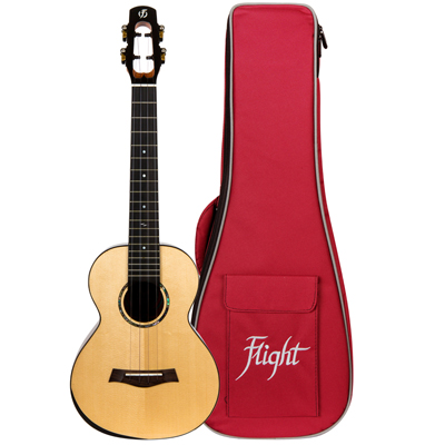 Flight Voyager Ukulele with Red Gig Bag
