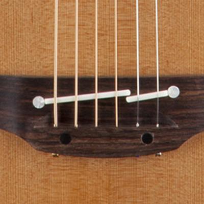 Takamine Pro Series 3 Nex Acoustic Electric Guitar Bridge Detail