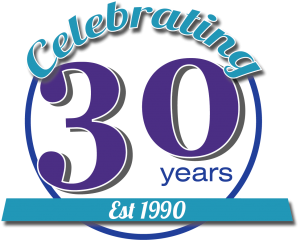 Binary Music 30 years logo