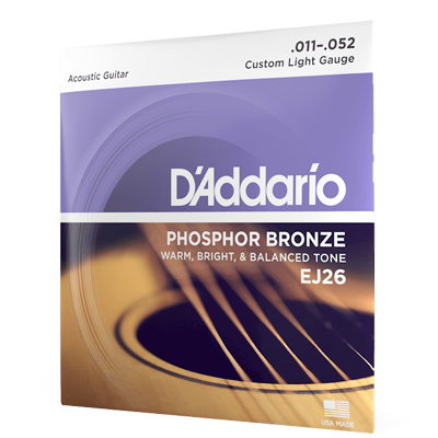 DAddario Acoustic Guitar Strings 11-52