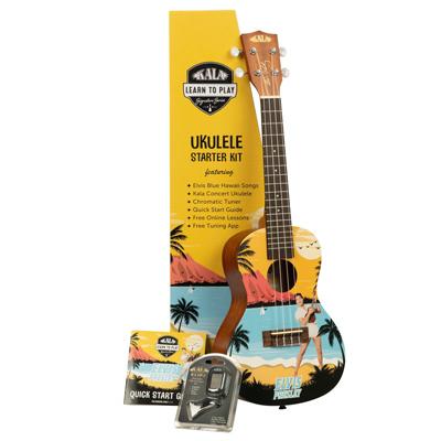 Kala Limited Edition Elvis Blue Hawaii Concert Ukulele Pack