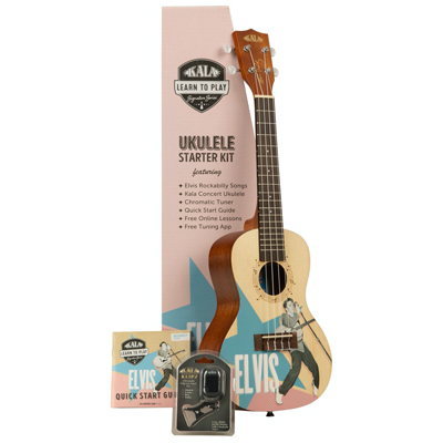 Kala Limited Edition Elvis Rockabilly Ukulele Pack.