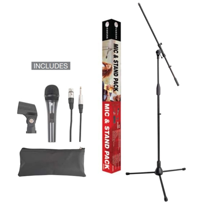 Carson Microphone and Stand Pack