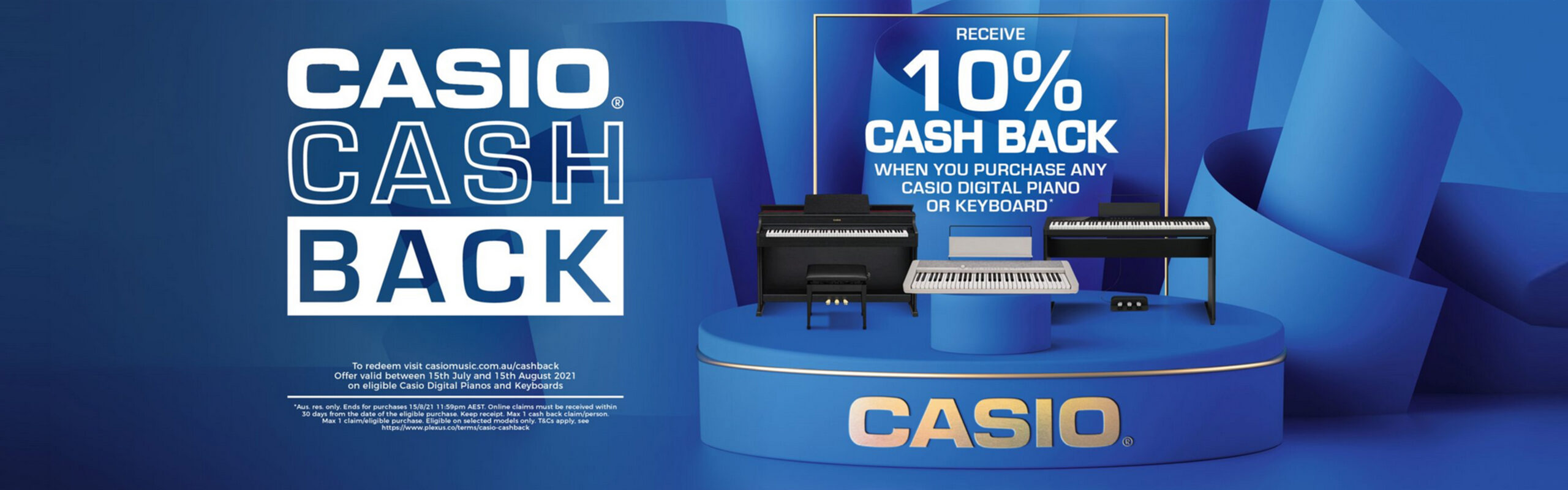 Casio Cashback July 2021 Banner